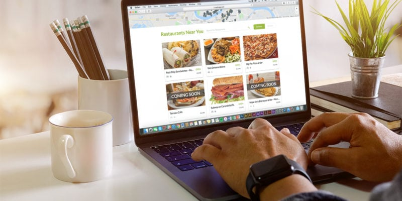 Waitr's online marketplace for food delivery. / Waitr