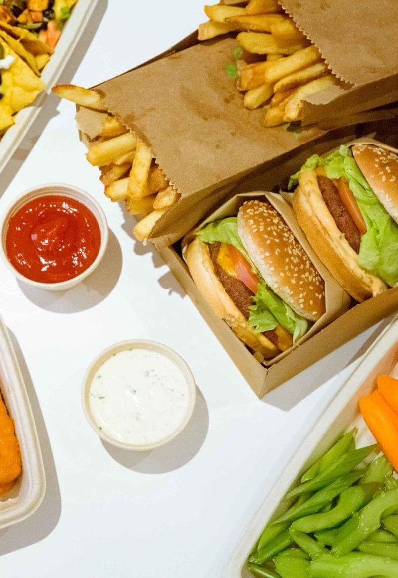 Veggie Grill's Beyond Burger meal. / Veggie Grill