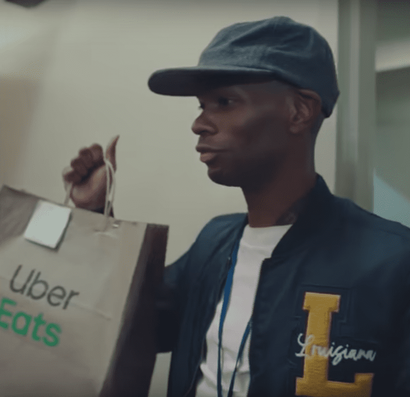 Uber Eats upped its TV advertising spend to draw eyeballs from sports fans watching the NCAA tournament in March. / <a href='https://www.youtube.com/playlist?list=PLMaW71wDgN7m9aO1pDvlIVzgpITaKYfJO'>Uber Eats</a>