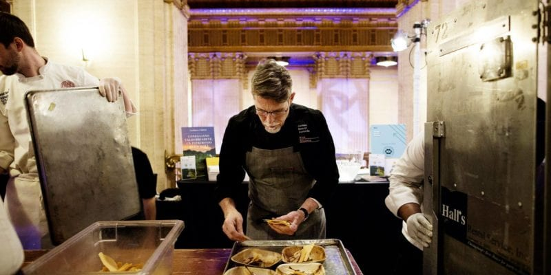 Chef Rick Bayless cooks at the 2018 James Beard Awards. - Eliesa Johnson / <a href='https://www.facebook.com/topolochicago/photos/a.2155511337799982/2155512351133214/?type=3&theater'>Topolobampo</a>